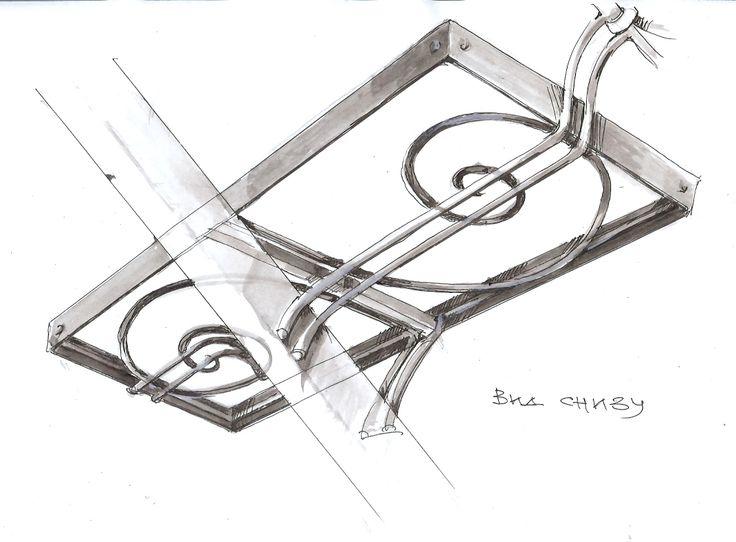 Металлический несущий каркас, в который в последствии были вложены ступени из оникса от #Metalmade: http://www.metal-made.ru/service/