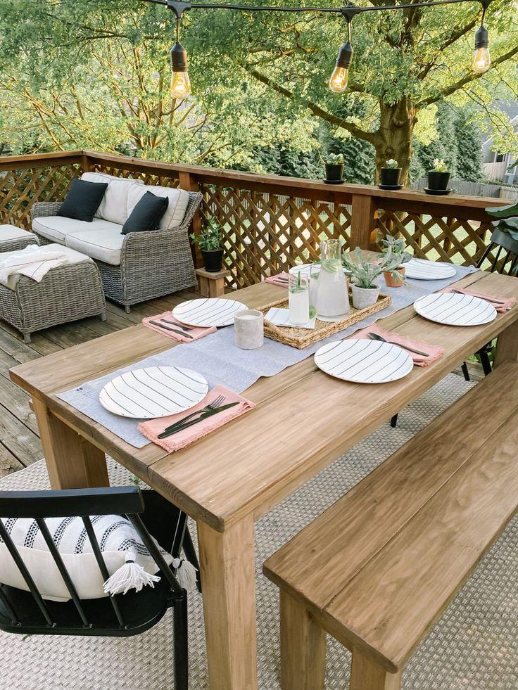 Diy farmhouse table outdoor farmhouse table farmhouse