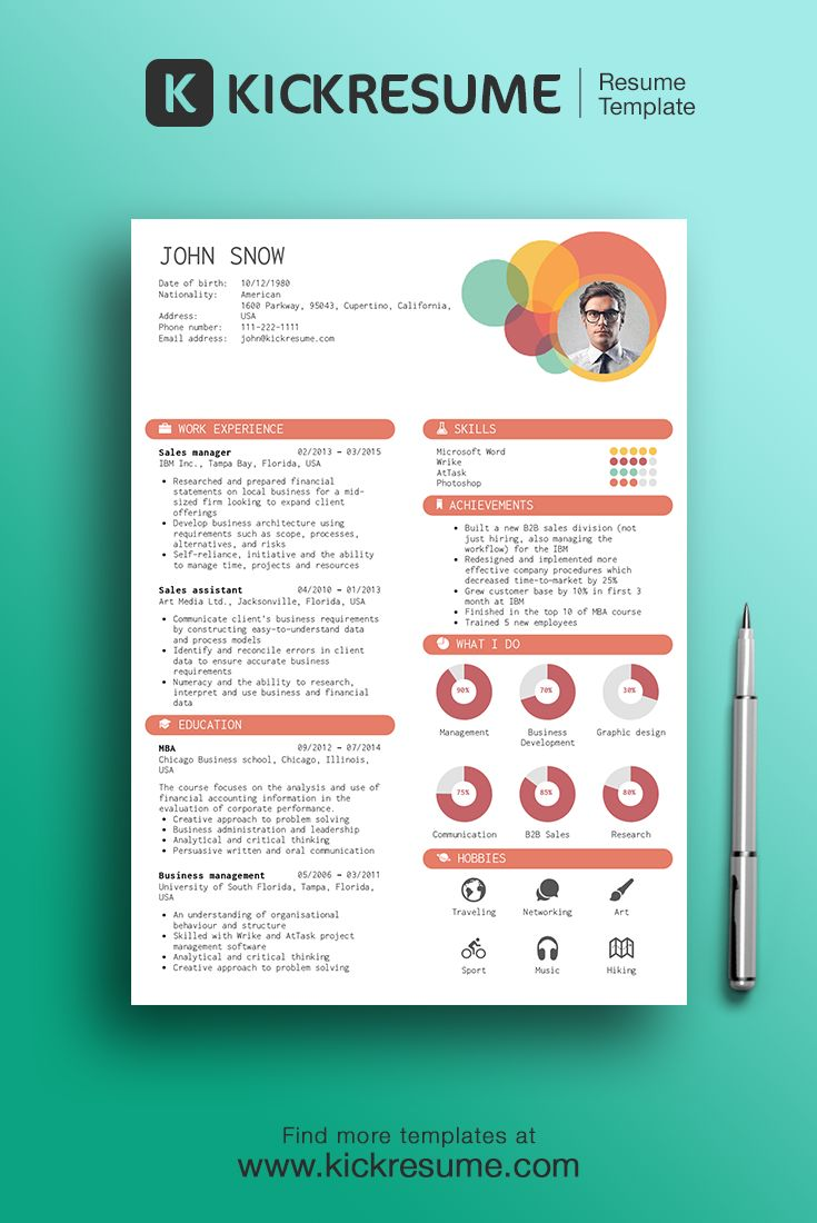 465 best creative resume design images on pinterest design resume