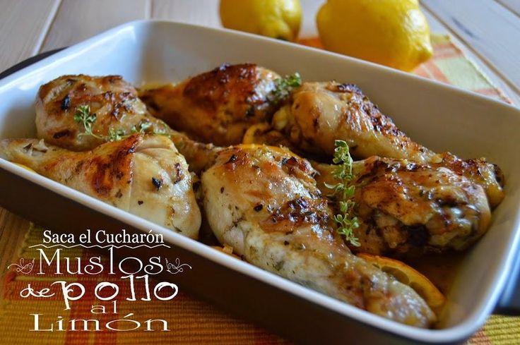 Una receta del blog SACA EL CUCHARÓN. Hay que ver lo bien que combinan el pollo y el limón.