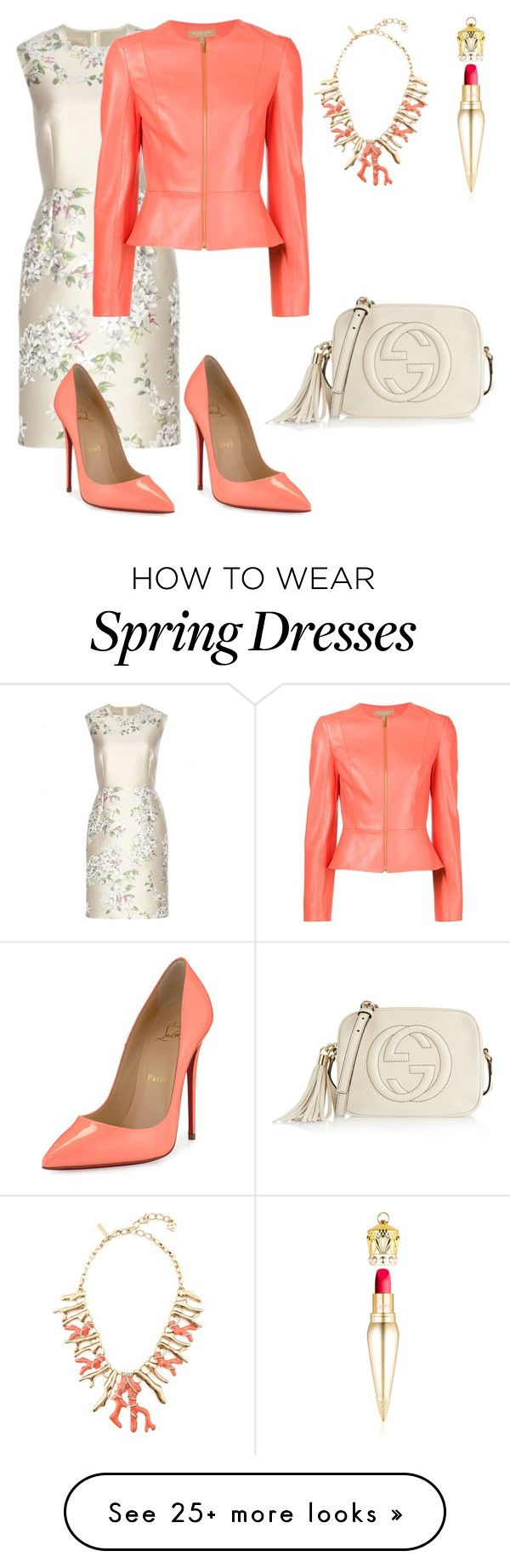 """Spring mood"" by kamiren on Polyvore featuring Giambattista Valli, Christian Louboutin, Michael Kors, Gucci, Oscar de la Renta, women's clothing, women, female, woman and misses"