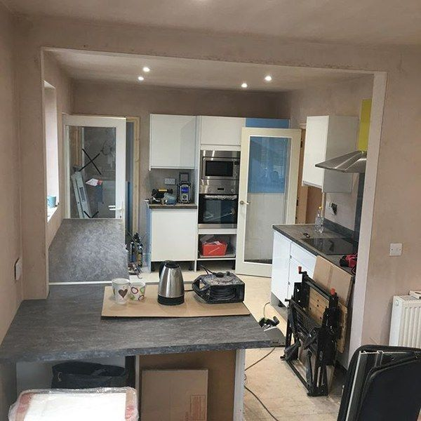 New Kitchen Being Fitted Part Of Full House #renovation #kitchen #tradesmen  #Preston