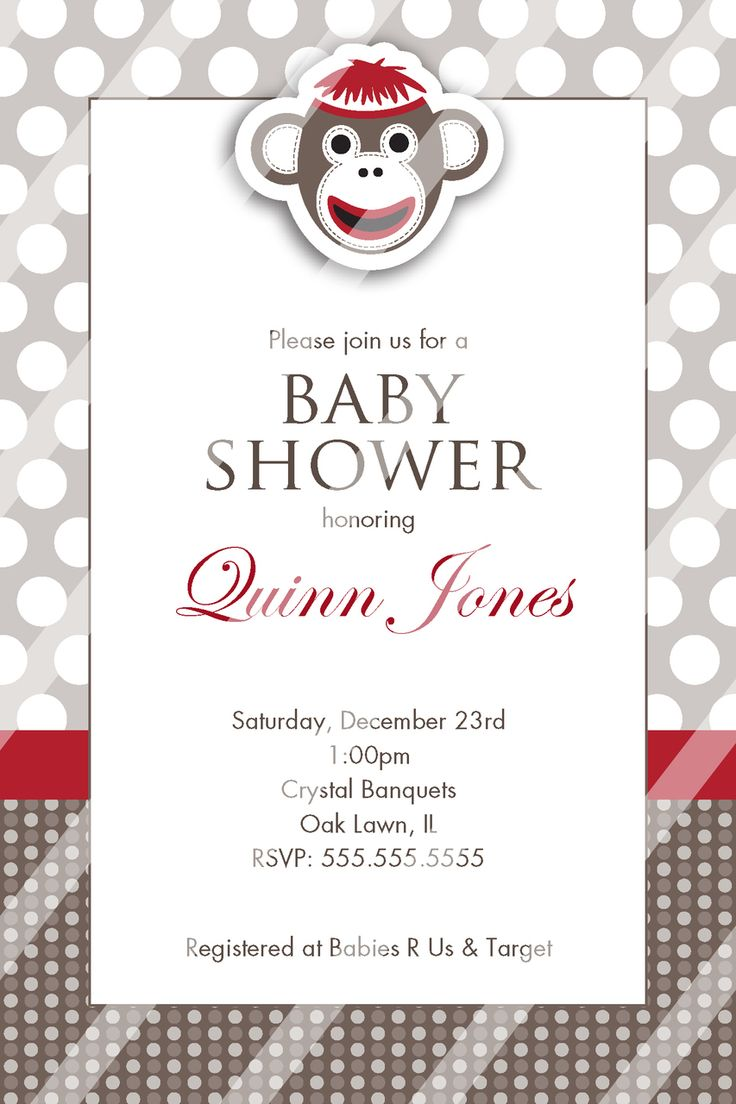 269 best Baby Shower Invitation and party supplies images on ...