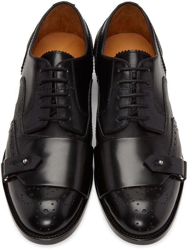 24f1c6990fd8f Alexander McQueen - Black Buckle Toe Brogues | Men shoe in 2019 ...