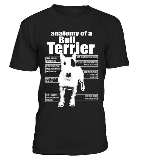 """# ANATOMY OF A BULL TERRIER T-SHIRTS 