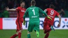 DFB Pokal Halbfinale 2017: Gladbach - Frankfurt  6:7 n.E.
