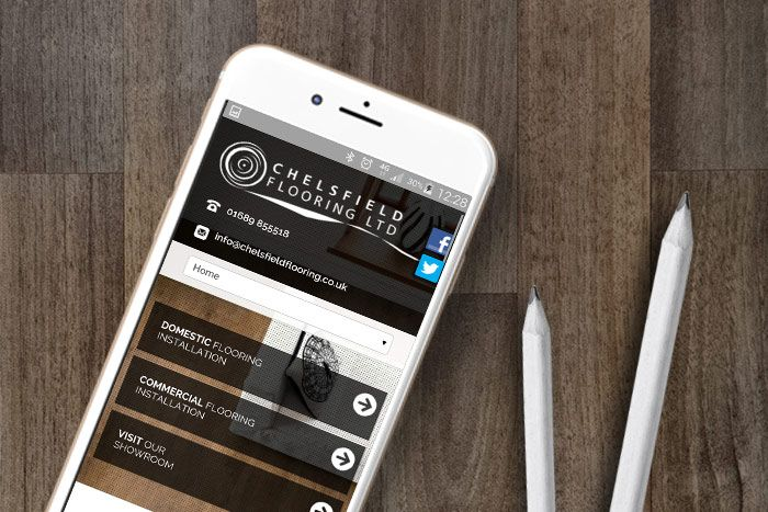 A new responsive website and design, plus ongoing Search Engine Optimisation for Chelsfield Flooring
