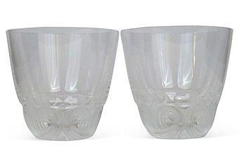 Lalique Art Deco Whiskey Tumblers
