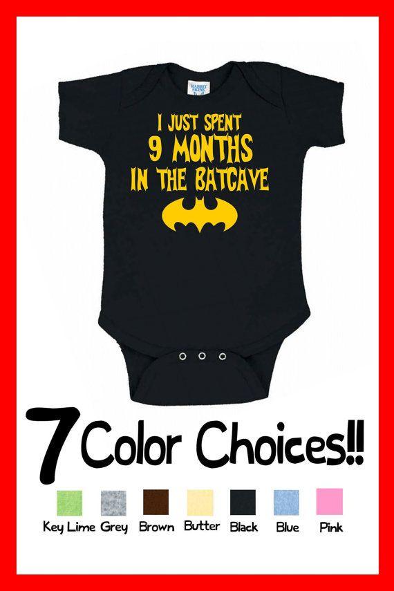 Batman I Just Spent 9 Months in the Batcave Onesie Future Superhero Boy Infant Great Birthday Christmas Present Superhero Gift Idea