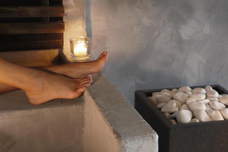 Tulikivi Rae electric sauna heater. Rae brings a nice steamy feeling to a sauna. Rae heater has a natural stone coating (granit or marble, here granit). www.tulikivi.fi or Photo by Tulikivi | Photobucket