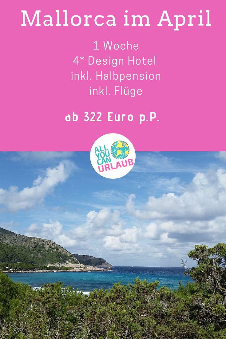 MALLORCA IM APRIL, 1 WOCHE, 4* DESIGNHOTEL INKLUSIVE HALBPENSION AB 322 EURO PRO PERSON |ANZEIGE|