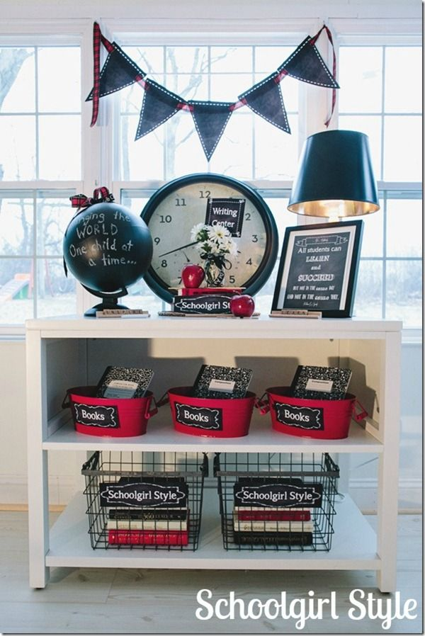 Chalkboard classroom theme from Schoolgirl Style.  Classic and beautiful.  www.schoolgirlstyle.com