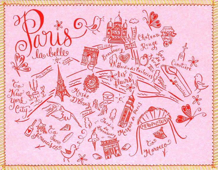 Couture map Paris