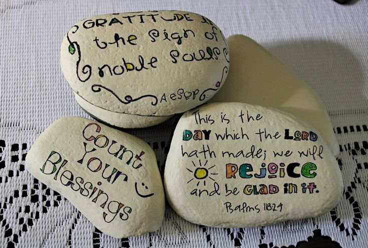 Leave a little rock of gratitude wherever you go...