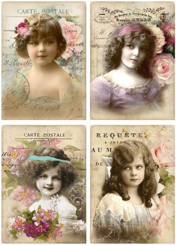 Vintage Photo Postcard Printables