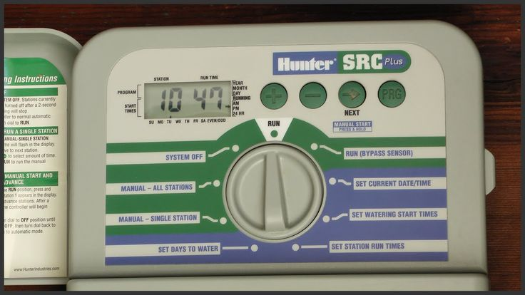 How To Program A Hunter SRC Plus Sprinkler Timer - YouTube