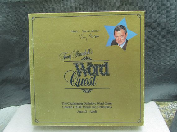 Word Quest by Tony Randall c. 1984 board game. by BuyfromGroovy