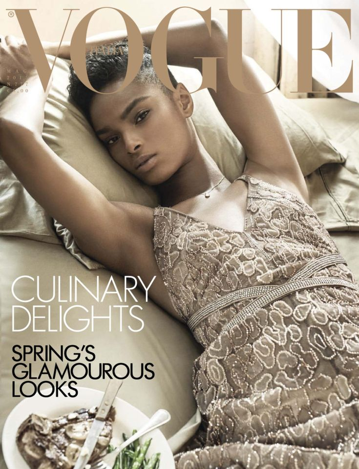 Magazine Cover: Kayla Scott by Steven Meisel for Vogue Italia May 2015