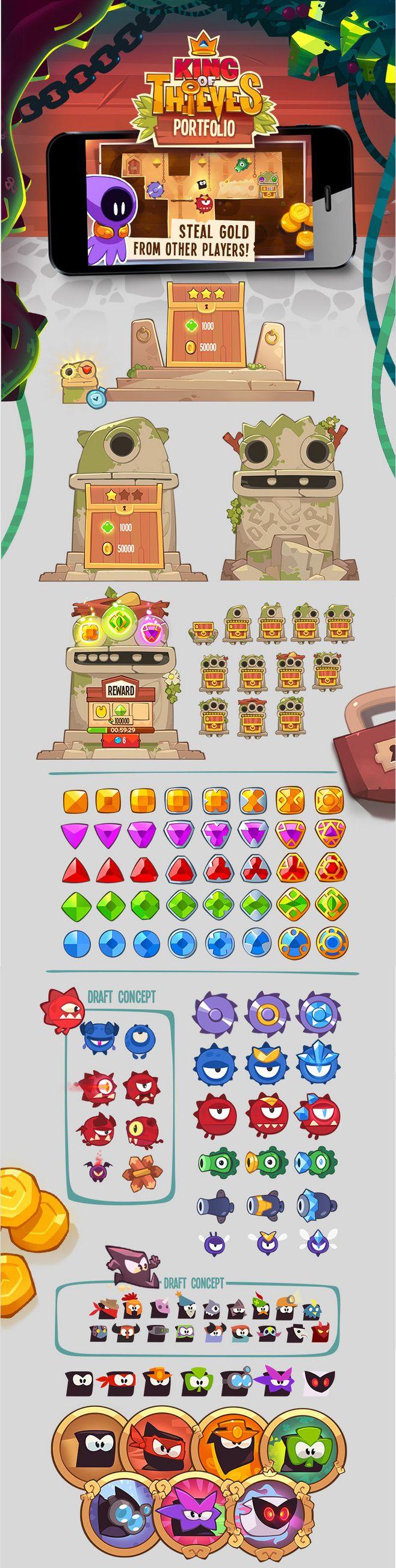 King of Thieves Game UI & Menu design