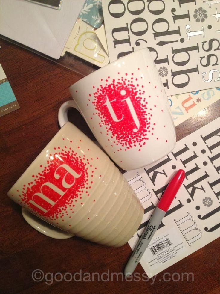 Ma Papeterie kawaii - Le blog: DIY - Des tasses simplissimes à personnaliser