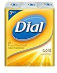 Dial Antibacterial Deodorant Soap, Gold, 4-Ounce Bars, 3 Count