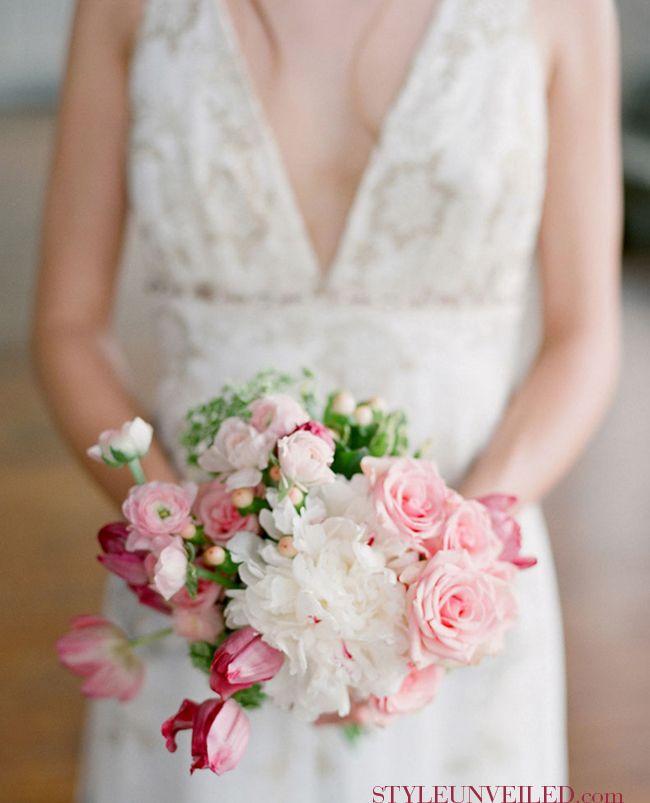 Pink & White Bridal BouquetWedding Inspiration, Romantic Pink, Pink Wedding Bouquets, Mercury Glass, Lovers Li, Pink Weddings, Wedding Blog, White Bridal Bouquets, Bouquets Flower