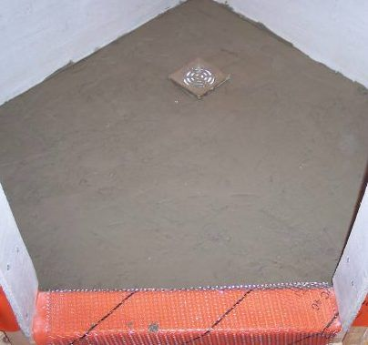 Planning a building a concrete-shower-pan and shower stall from mortar