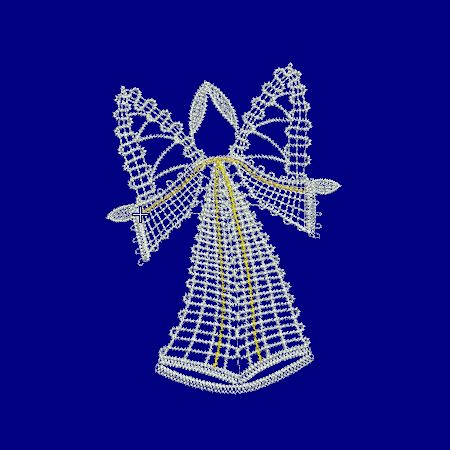Bobbin lace, Embroidery, freeby, Angel