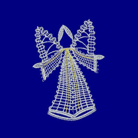 Bobbin lace, Embroidery, freeby, Angel