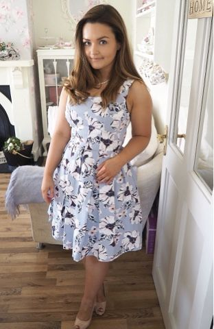 Tropica Pearls and Floral Dress by Catherine of Dainty Dress Diaries