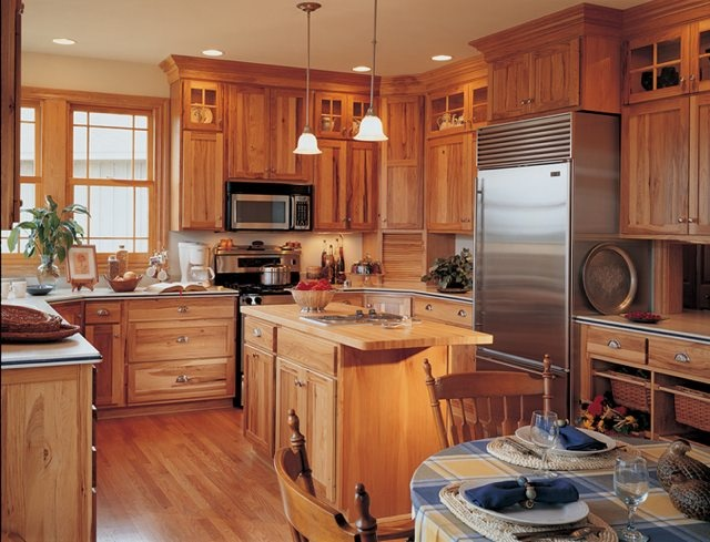 Door Style Seattle Material Hickory Door Construction Flat Panel Finish Natural Drawer