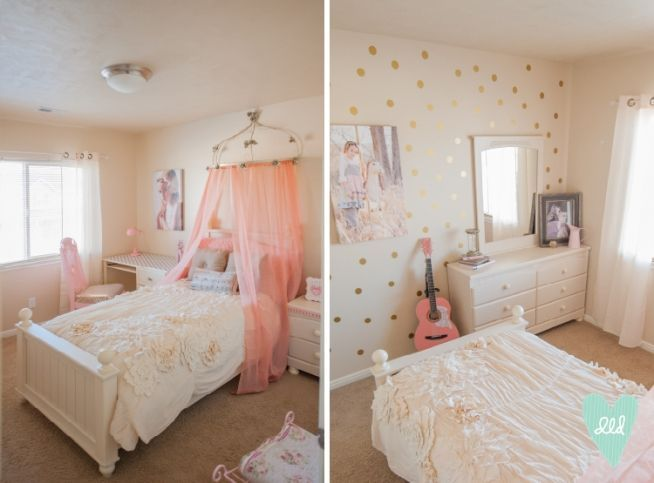 30 girls bedroom makeover ideas bedroom makeovers girls for Polka dot bedroom ideas