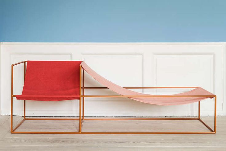 Muller Van Severen Red and Pink-Seated Chaise Longue image 2