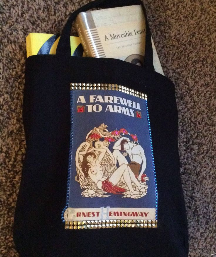 A Farewell to Arms by Ernest Hemingway - Literary Tote Bag - 1926 Cover Blinged Out Rhinestone Book Tote - Reader Gift by BookTotesbyMomo on Etsy https://www.etsy.com/listing/583010717/a-farewell-to-arms-by-ernest-hemingway