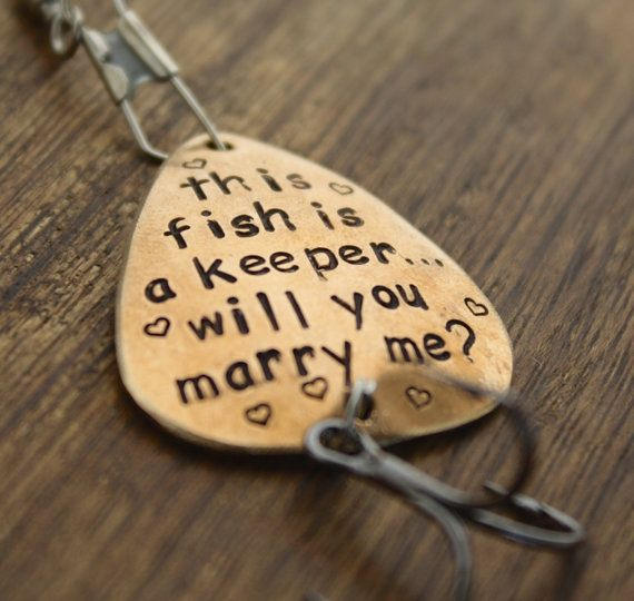 Will You Marry Me Fishing Lure, Will You Marry Me Prop, Marriage Proposal Gift, Asking Here to Marry You, This Fish is a Keeper, Engagement on Etsy, $36.00