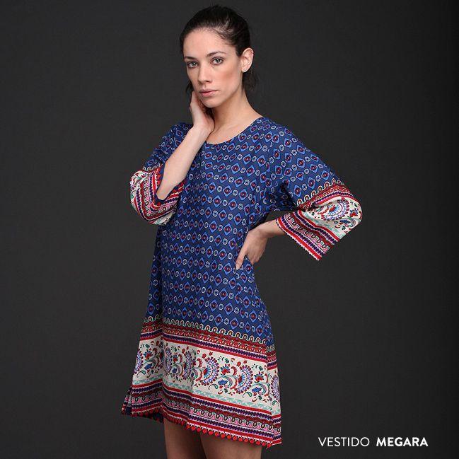 Liviano, femenino, cómodo. El Vestido Megara se adapta a todo tipo de figuras. #Vestidos #Tendencias #Primavera