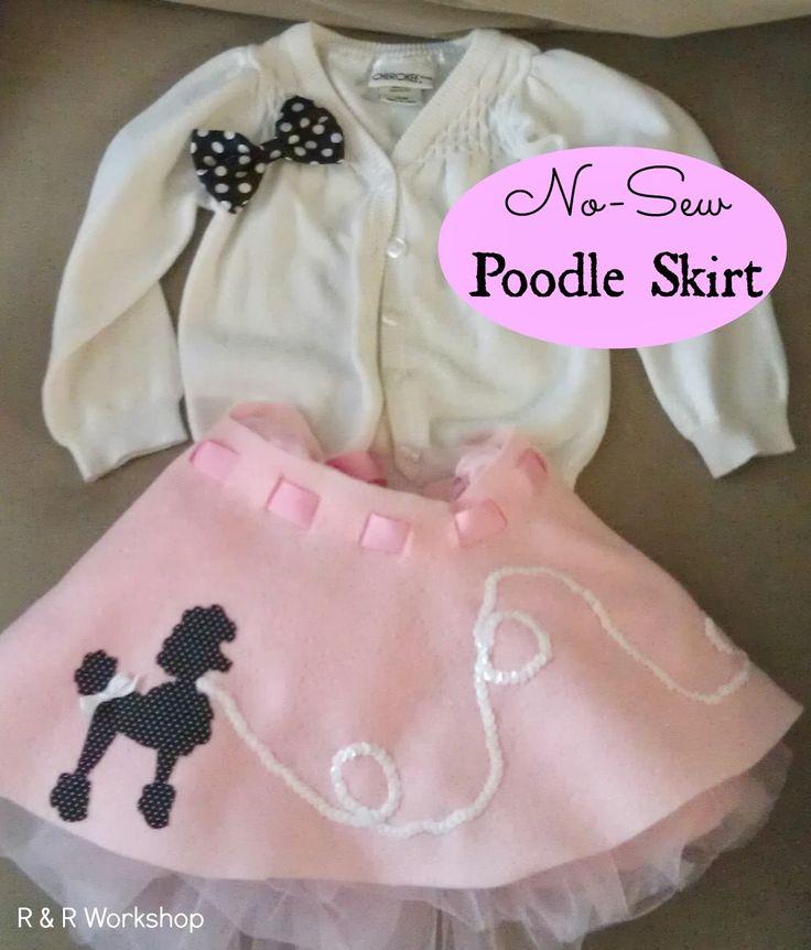 R & R Workshop: No-Sew Poodle Skirt Tutorial