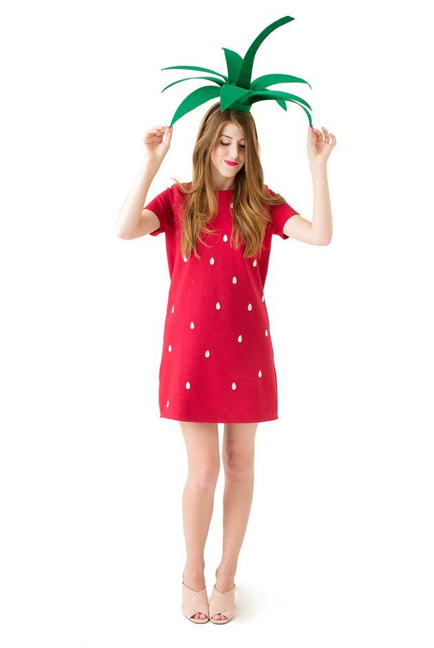 Diy strawberry costume hat free printable   Strawberry ...