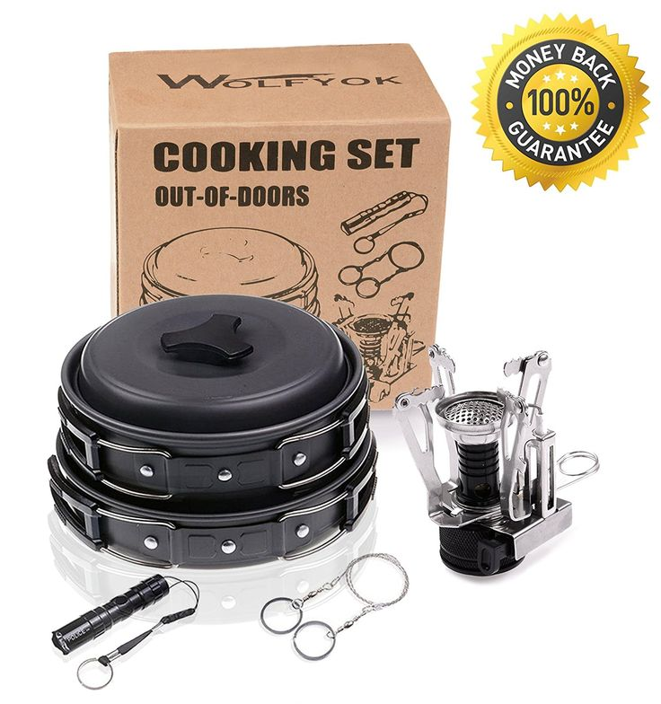 Wolfyok Outdoor Cookware Set Bundle with Mini Camping Stove >>> Click image to review more details.