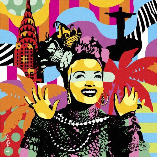 CHICA BUM | CARMEN MIRANDA | LOBO | POP ART www.lobopopart.com.br