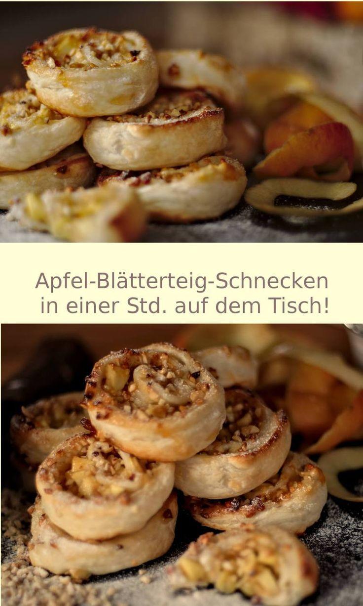 Blätterteig-Apfel-Schnecken, in einer Std. auf dem Tisch! – Preppie and me