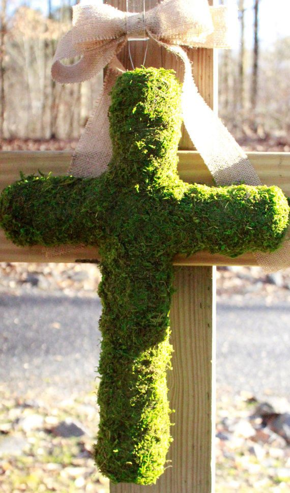 ... about Moss covered Love on Pinterest | Spring, Moss wreath and Bunnies