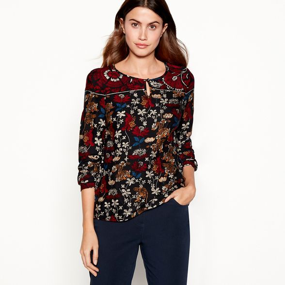 nice cheap cheap for sale great deals 2017 Maine New England Black floral print top | Debenhams | Black ...