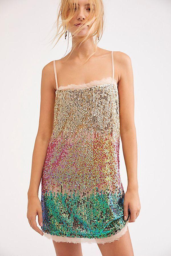 874774bad0 Time To Shine Multi Slip - Multicolored Mermaid Sequin Sleeveless Mini Slip  Dress - Sparkly Mini Dresses - Sequin Mini Dresses