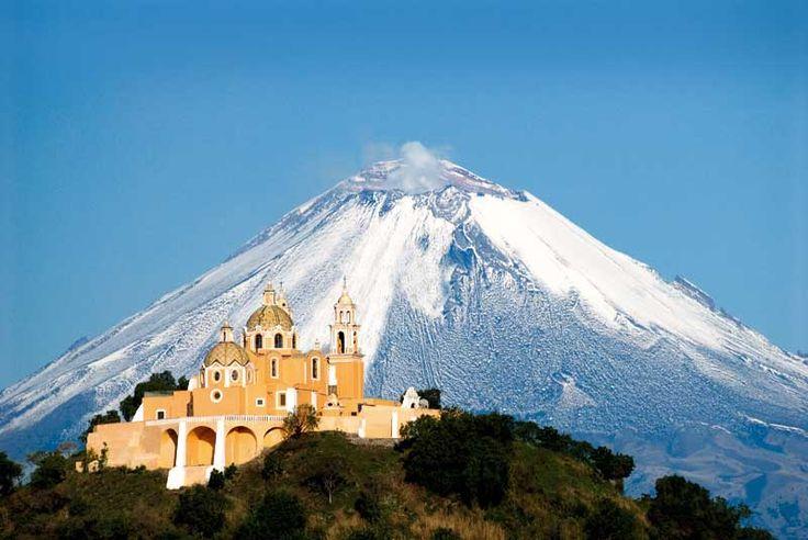 Popocatepetl volcano in Mexico.  1983