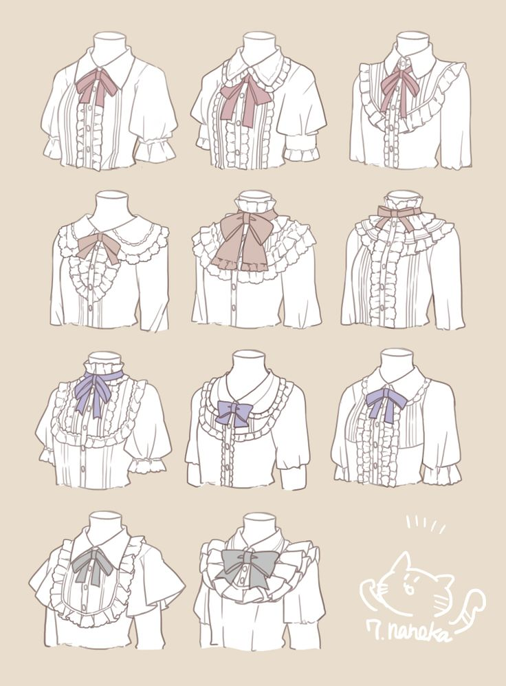 These are all so cute. I have a pattern for one of them, but I would love to learn how to properly make these collars/blouses.