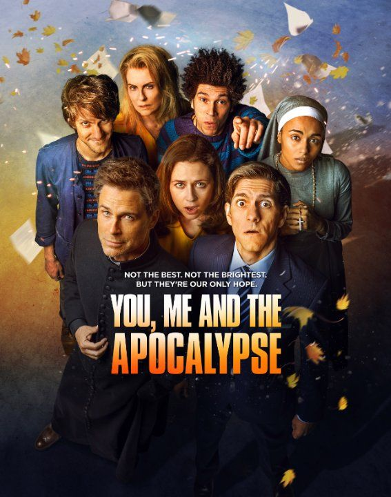You, Me and the Apocalypse (2015) When a group of ordinary people learn that an eight-mile wide comet is on a collision course with Earth, they hunker beneath the town of Slough to watch the end of the world on television.