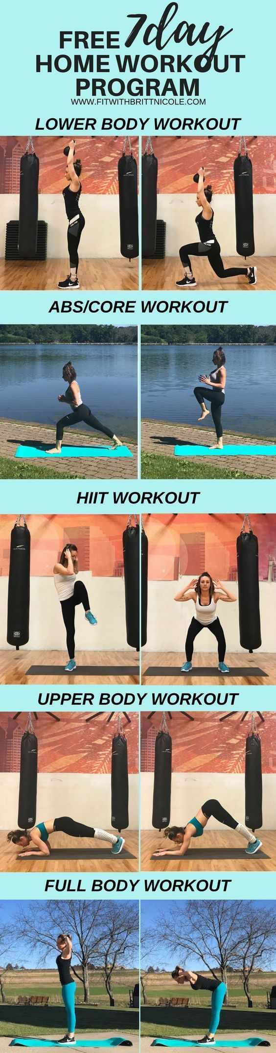 Click through to get your FREE 7 Day Home Workout Program! This includes a workout schedule for 1 full week structured workouts that are easy to follow and pictures of each exercise. Home Workout | HIIT Workout | Ab Workout | Core Workout | Lower Body Workout | Legs and Booty | Upper Body Workout | Full Body Workout | Get Fit Fast #homeworkout #bodyweightworkout #healthandfitenss #workoutprogram #weightloss #burnfat