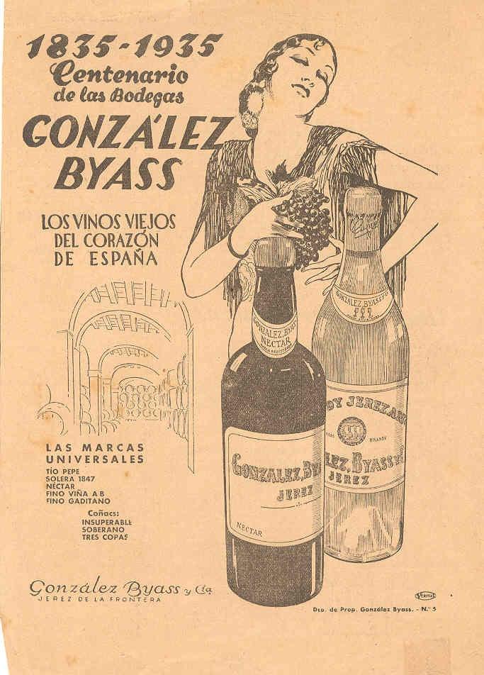 """1935: Centenario de los """"vinos viejos"""". / 1935: The 100th anniversary of the """"aged wines."""""""