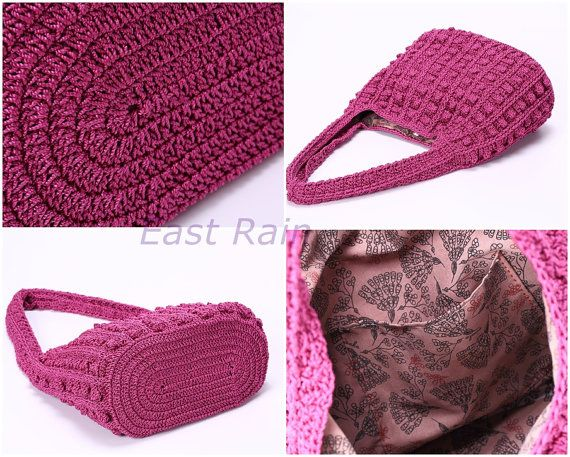 ganchillo crochet bolso bandolera bolso niña hecho a mano